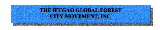 Ifugao Global Forest City Movement, Inc.
